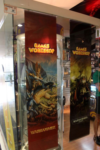 Games Workshop posters.