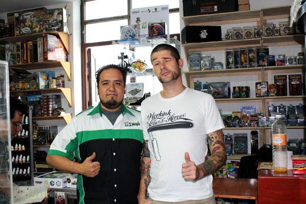 Jesús & me at El Duende store.