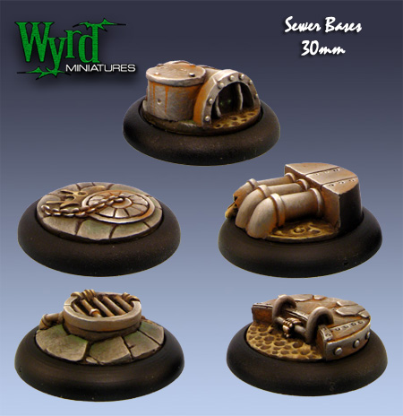 Sewer bases from Wyrd Miniatures.