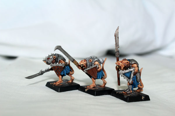 Three of plastic Clanrats Regiment