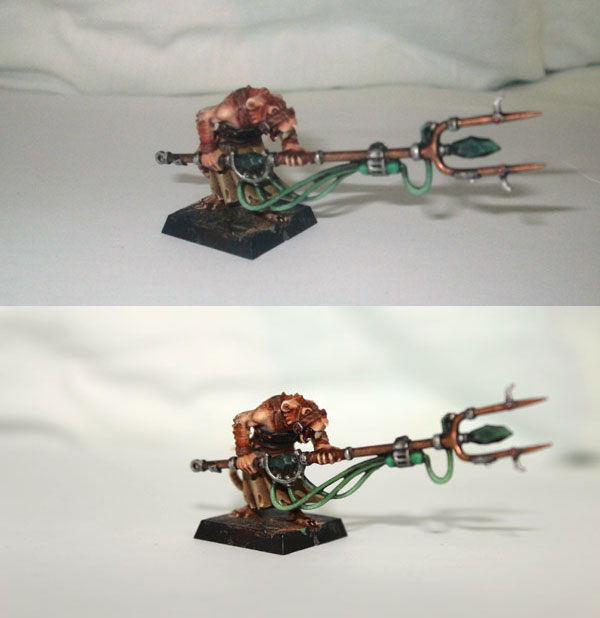 Clan Moulder Pack Master. Upper photo taken with old camera, lower with new.