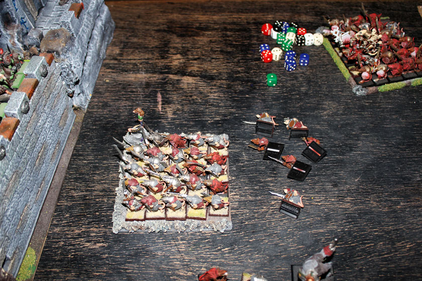 Goblins've done lots of shooting this turn - some Skavens died...