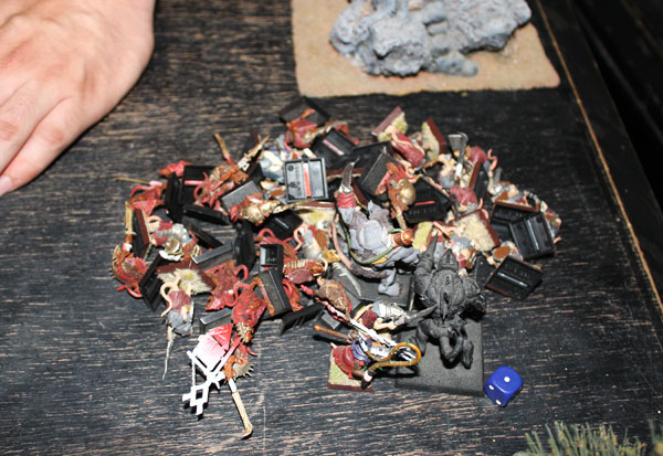 Pile of killed Skavens...