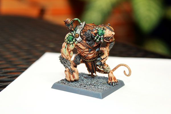 Skaven Rat Ogre - first of many!