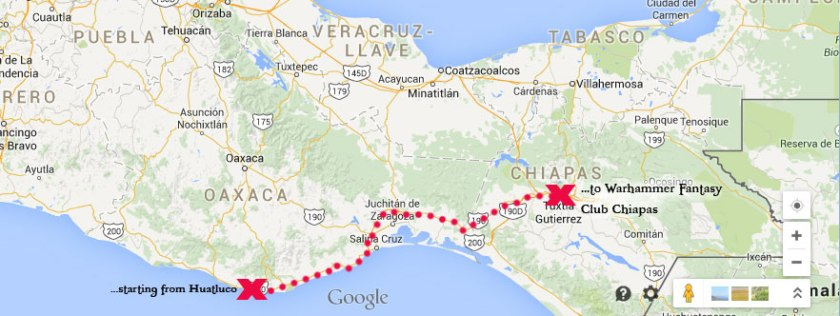 From Huatulco to Cancun...Tuxtla is on the way.