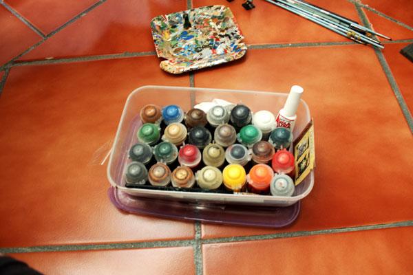 My set of paints.