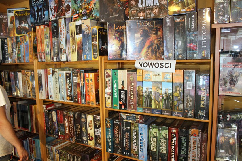 Full of board games.