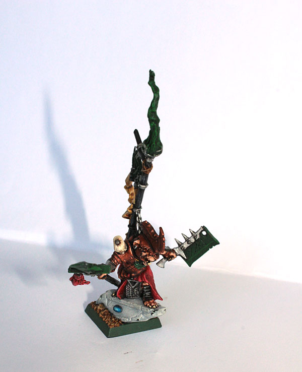 Warlord from Island of Blood acting as Battle Standard Bearer.