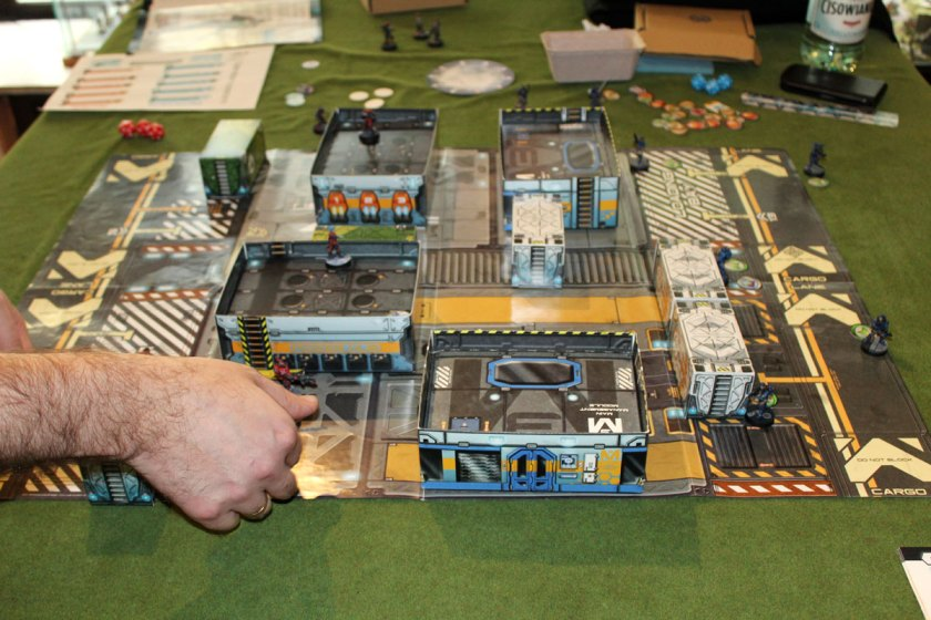 infinity Game tutorial played on the board from Operation Icestorm campaign set.