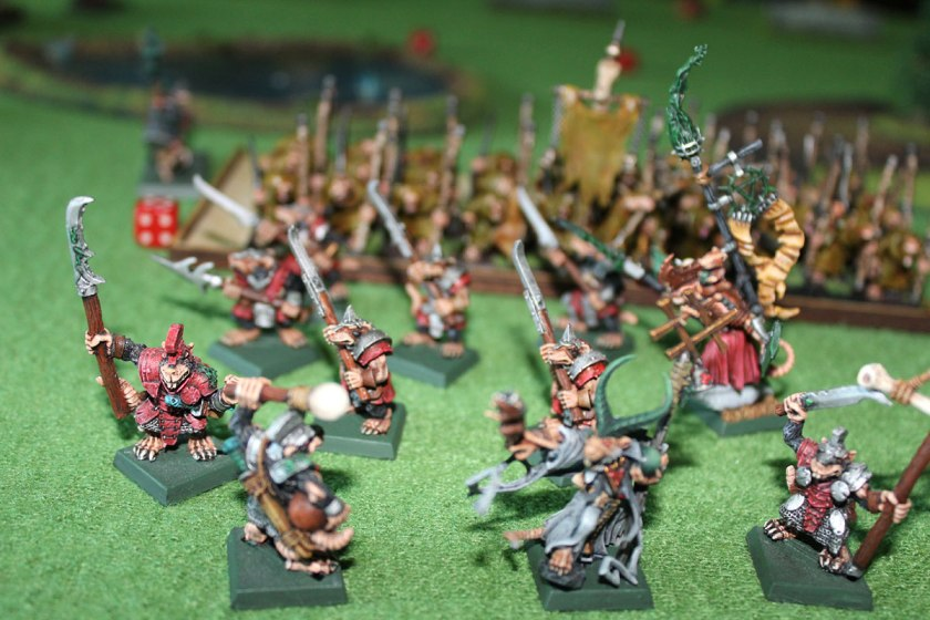 Everything is lost! Quiksqueek, Battle Standard Bearer and Stormvermin flee! Battle is over!