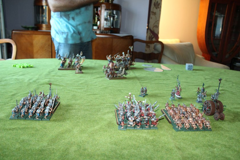 Two  armies ahead : much more rats than Ogres:).