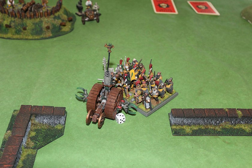 ...and Swordsmen charging Doomwheel.