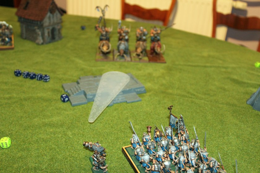 Ogres were too far for any of Warpfire Throwers...