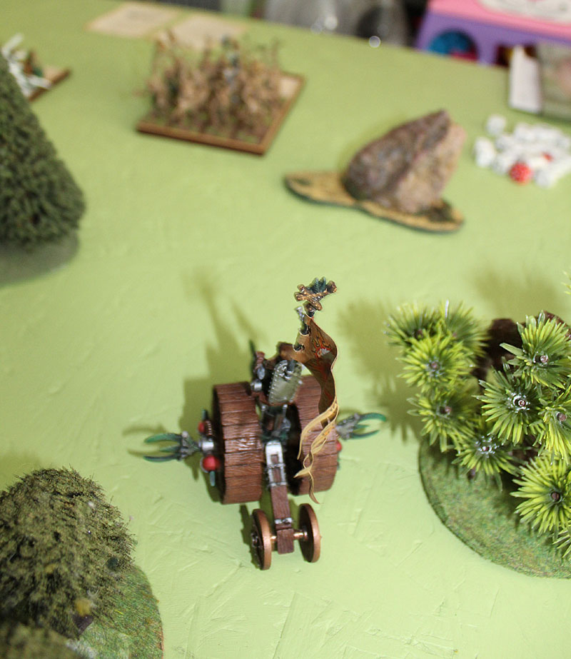 Eastern Doomwheel rolling into The Dryads.