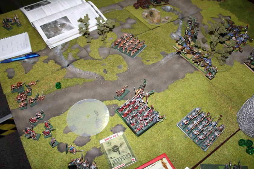The battlefield. Turn 1