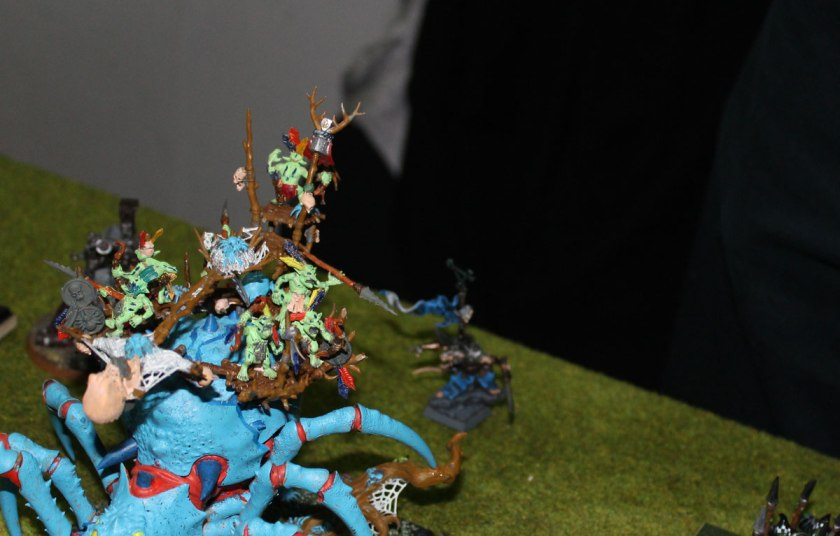 Skaven Chieftain was teleported behind enemy lines.