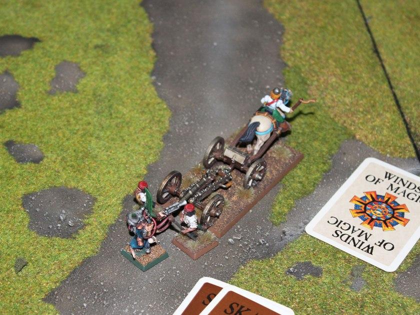 Master Warlock Warvolt skitterleaped to fight Galloper Gun's crew.