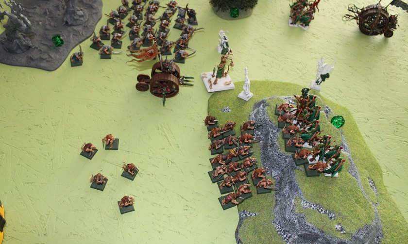 Slaves attack on Elven Glade Guard.