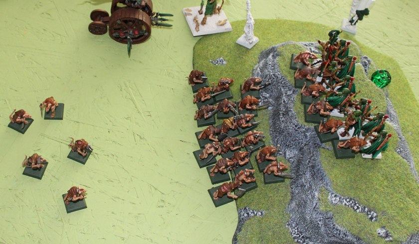 Unit of Skaven Slaves provided me around 50 attack rolls per turn...