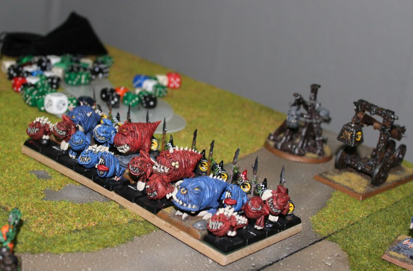 Squig Herd and Rock Lobbas on the back.