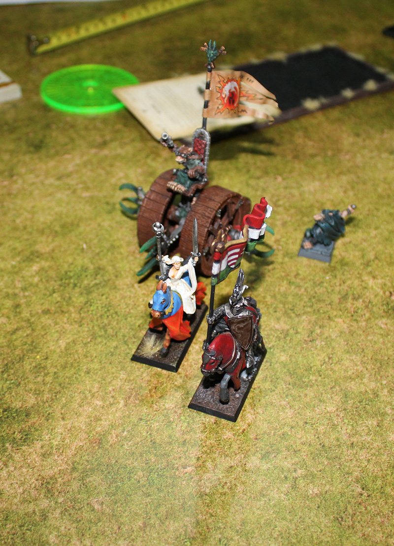 Assassin and Doomwheel are pursuing fleeing Prophetess and Gallant