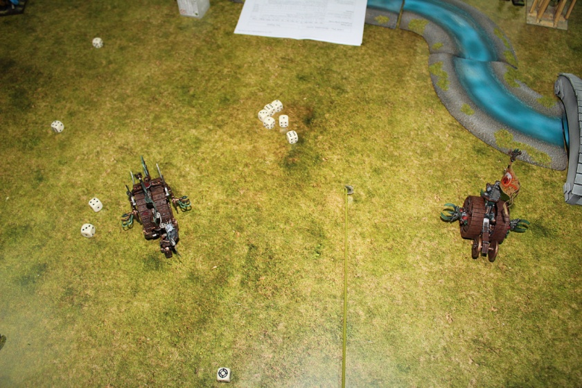 Old type Doomwheel destroyed new type by accident. Only Skaven do such things:)