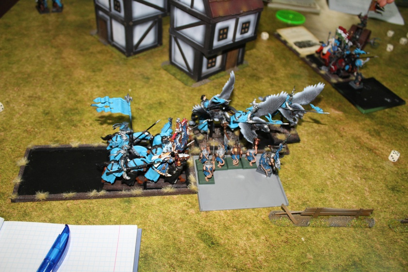 Charge from the flank.