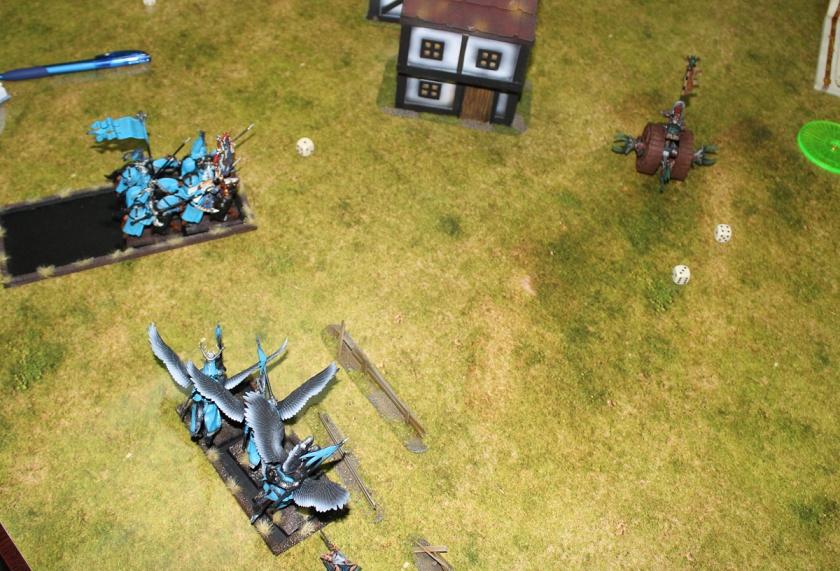 Doomwheel vs Bretonnians.