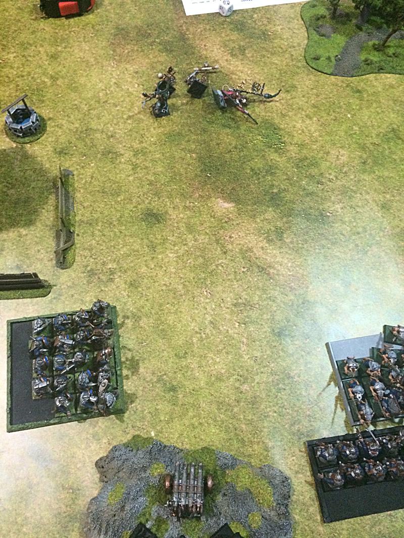 Organ Gun annihilate unit of Stormvermin